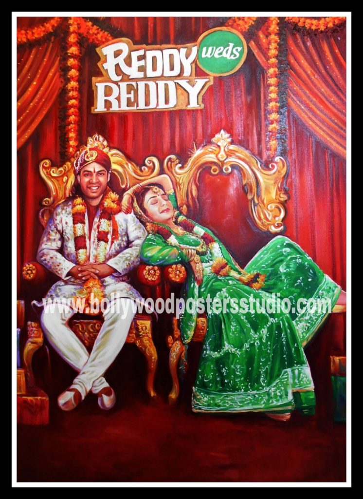 Bespoke Bollywood style wedding cards and invitation posters
