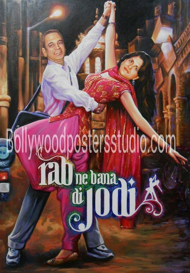 Bollywood hindi movie themed wedding cards and decoration