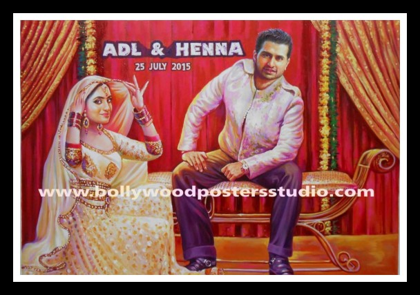 Custom Bollywood  themed wedding cards and party invitation