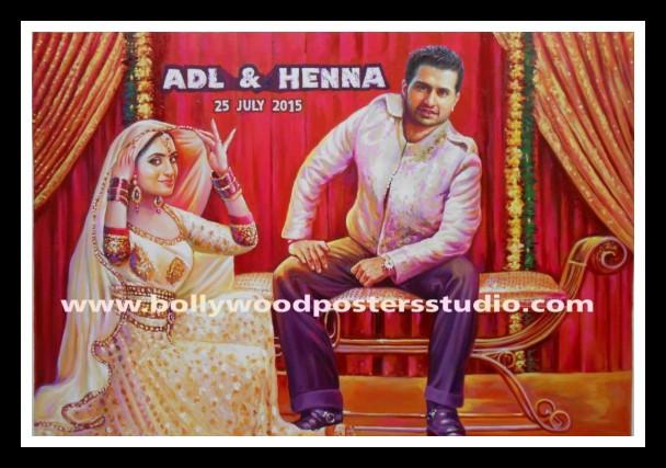 Custom Bollywood themed wedding cards and party invitation