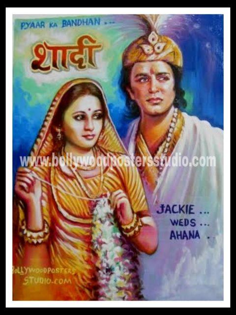 Custom hindi movie wedding themed bollywood posters