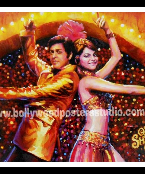Custom made Bollywood movie poster painter