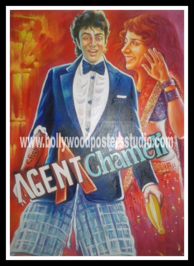 Custom painted bollywood movie posters