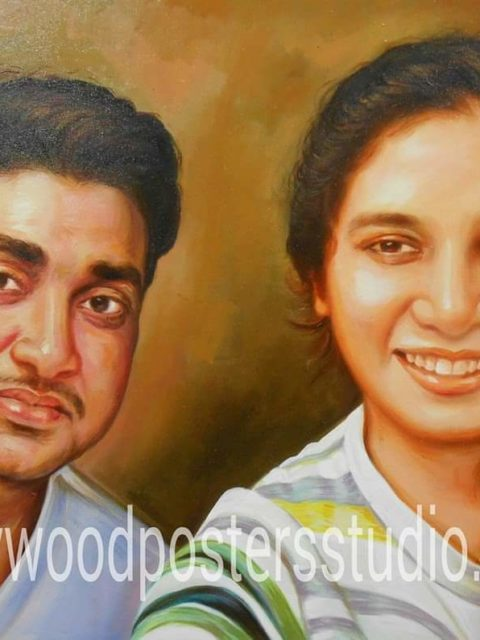 Canvas portrait paintings for personal gift