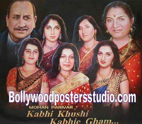 Customized family portrait into Bollywood poster online mumbai