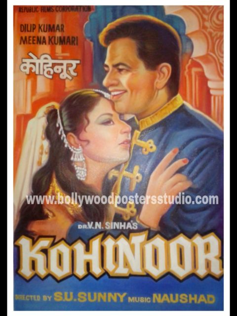 Hand painted Indian Bollywood movie poster painters Mumbai