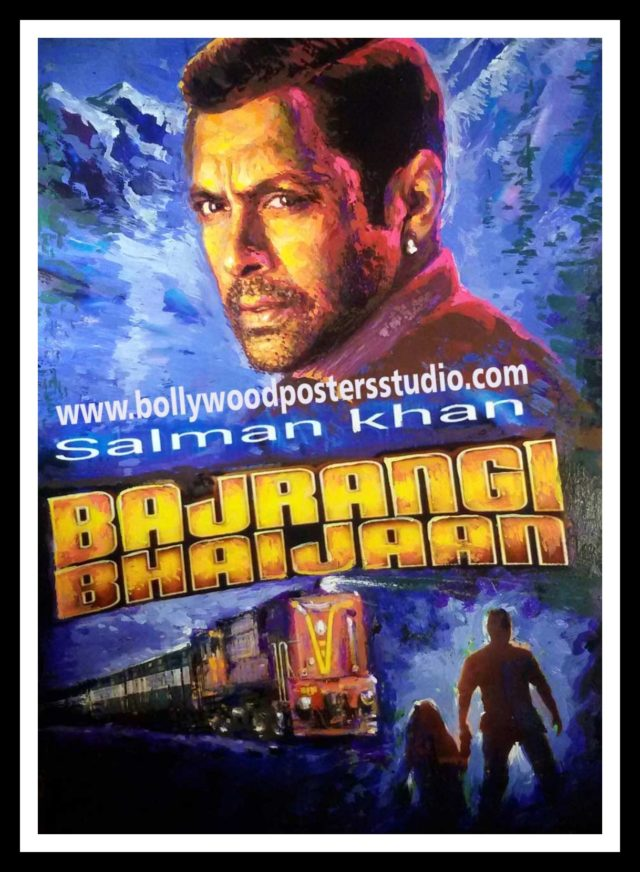 Hand painted success party Bollywood poster of Bajrangi Bhaijaan online