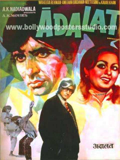 Adalat hand painted bollywood movie posters