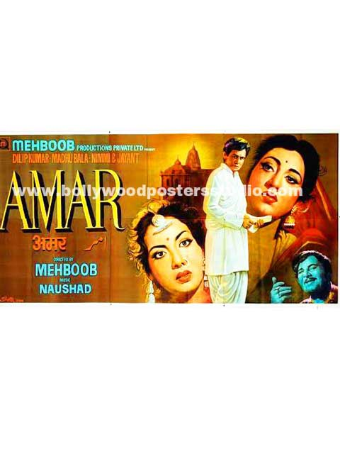 Amar hand painted bollywood movie posters