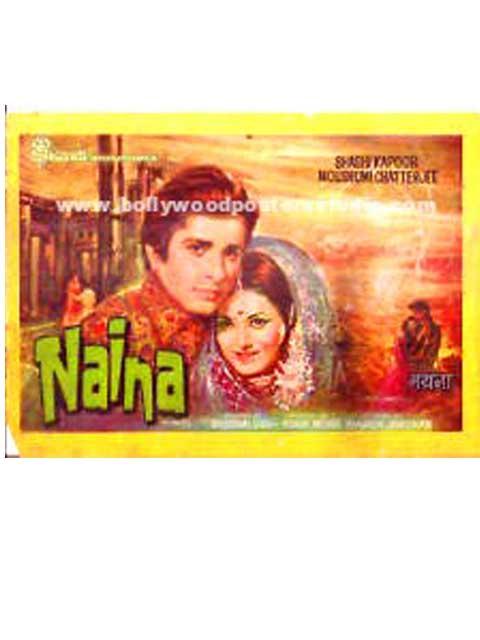 Naina hand painted bollywood movie posters