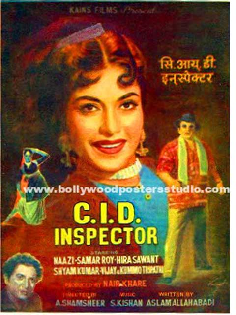 C.I.D inspector hand painted bollywood movie posters