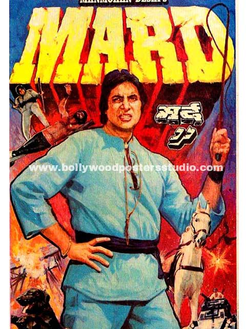 Hand painted bollywood movie posters Mard