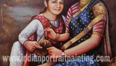 Indian portrait painting art