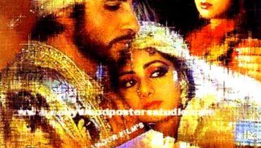 Hand painted bollywod movie posters Khuda gawah – Amitabh bachchan