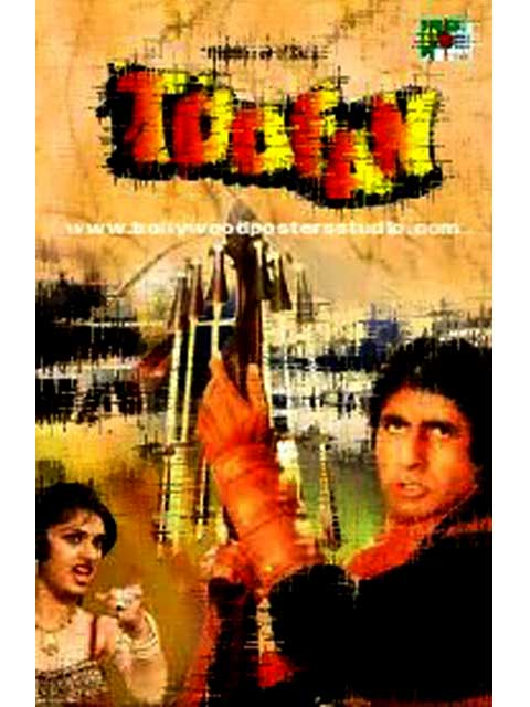 Hand painted bollywood movie posters Toofan – Amitabh bachchan