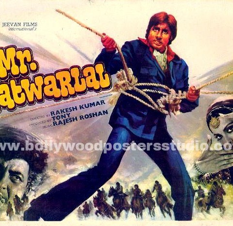 Hand painted bollywood movie posters Mr. Natwarlal – Amitabh bachchan