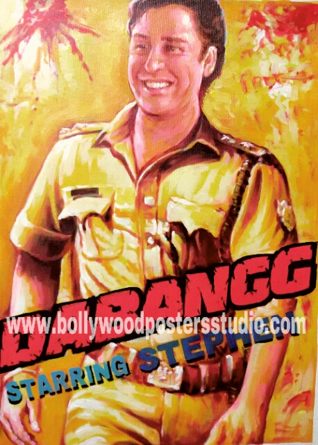 custom bollywood poster art