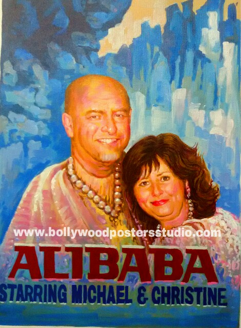 Custom classical bollywood hand painted posters image