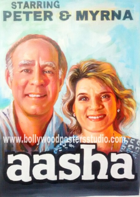 Customized bollywood brush and colour art paintings