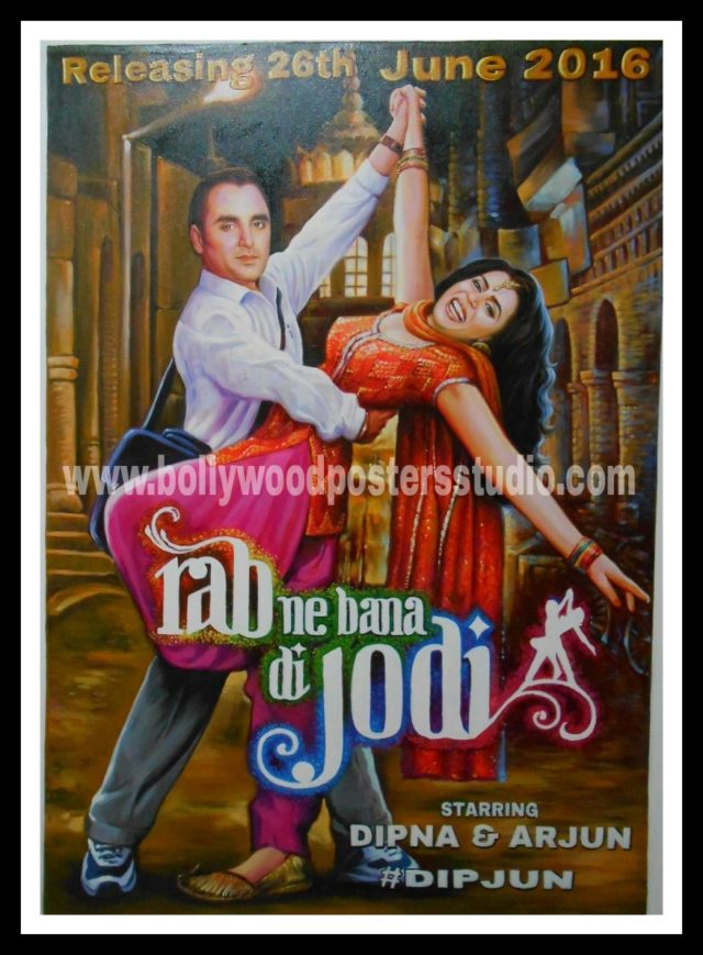 CUSTOMIZED BOLLYWOOD MOVIE POSTERS SAVE THE DATE INVITATION CARDS