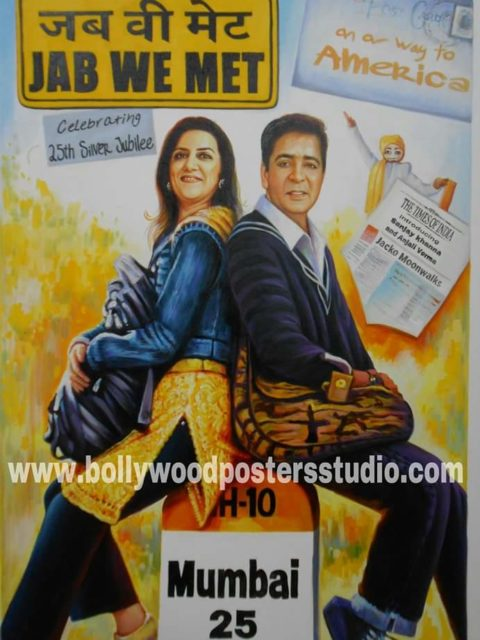 Custom invitation cards and decor for wedding and anniversary parties in bollywood themed