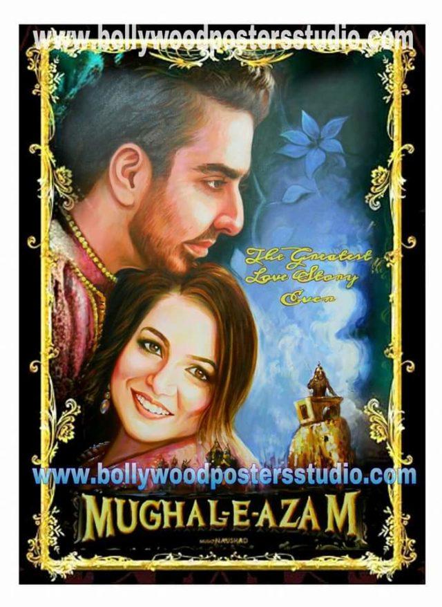 custom bollywood mehandi, sangaeet & marriage poster