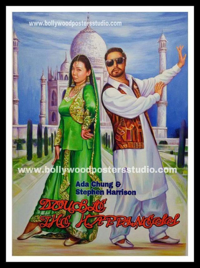 Custom Indian bollywood Hippy style poster