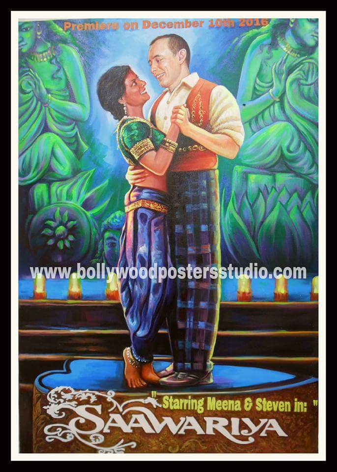 Custom bollywood posters paint on canvas