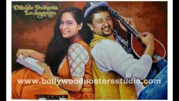 DDLJ hand painted custom bollywood poster