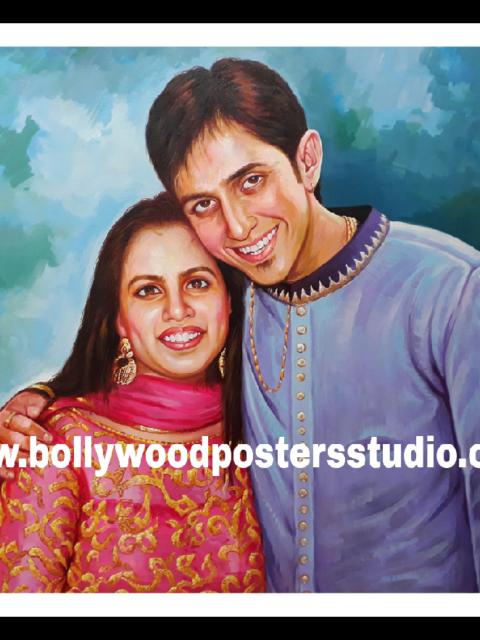 Famous Indian oil portrait artists