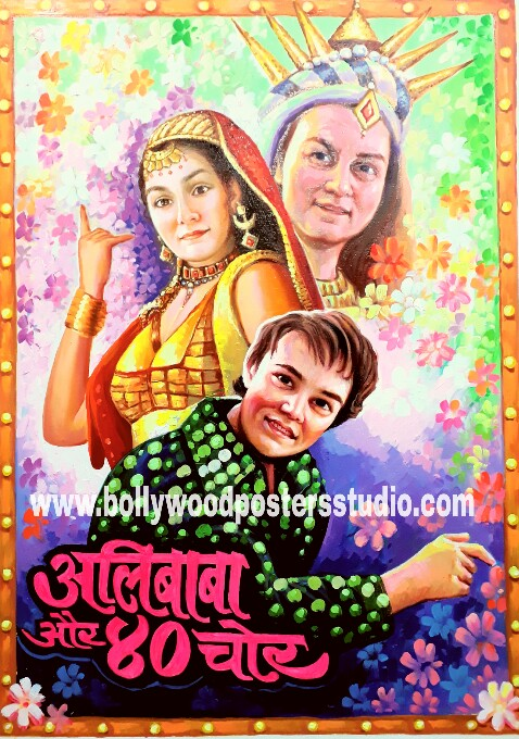 Vintage old custom bollywood poster india