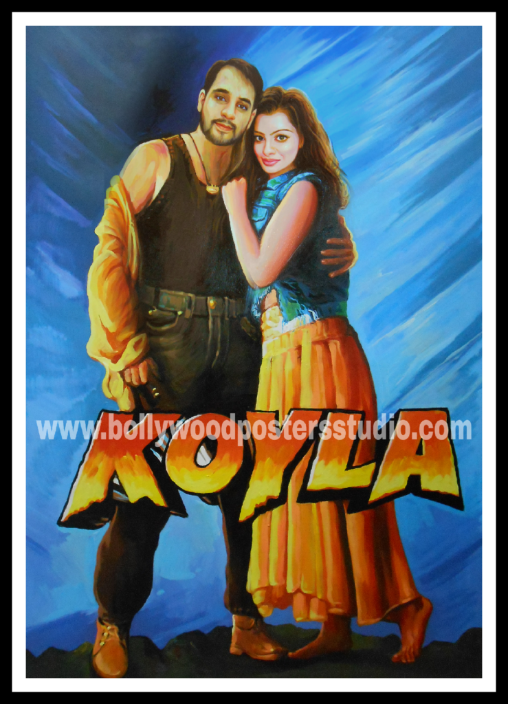 Creative bollywood hand painted posters artists