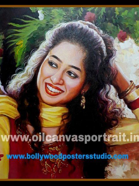 Hand painted portraits from photos india, mumbai