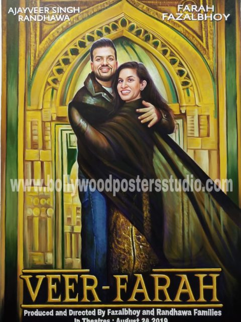 Bollywood style wedding photoshoot backdrop decor