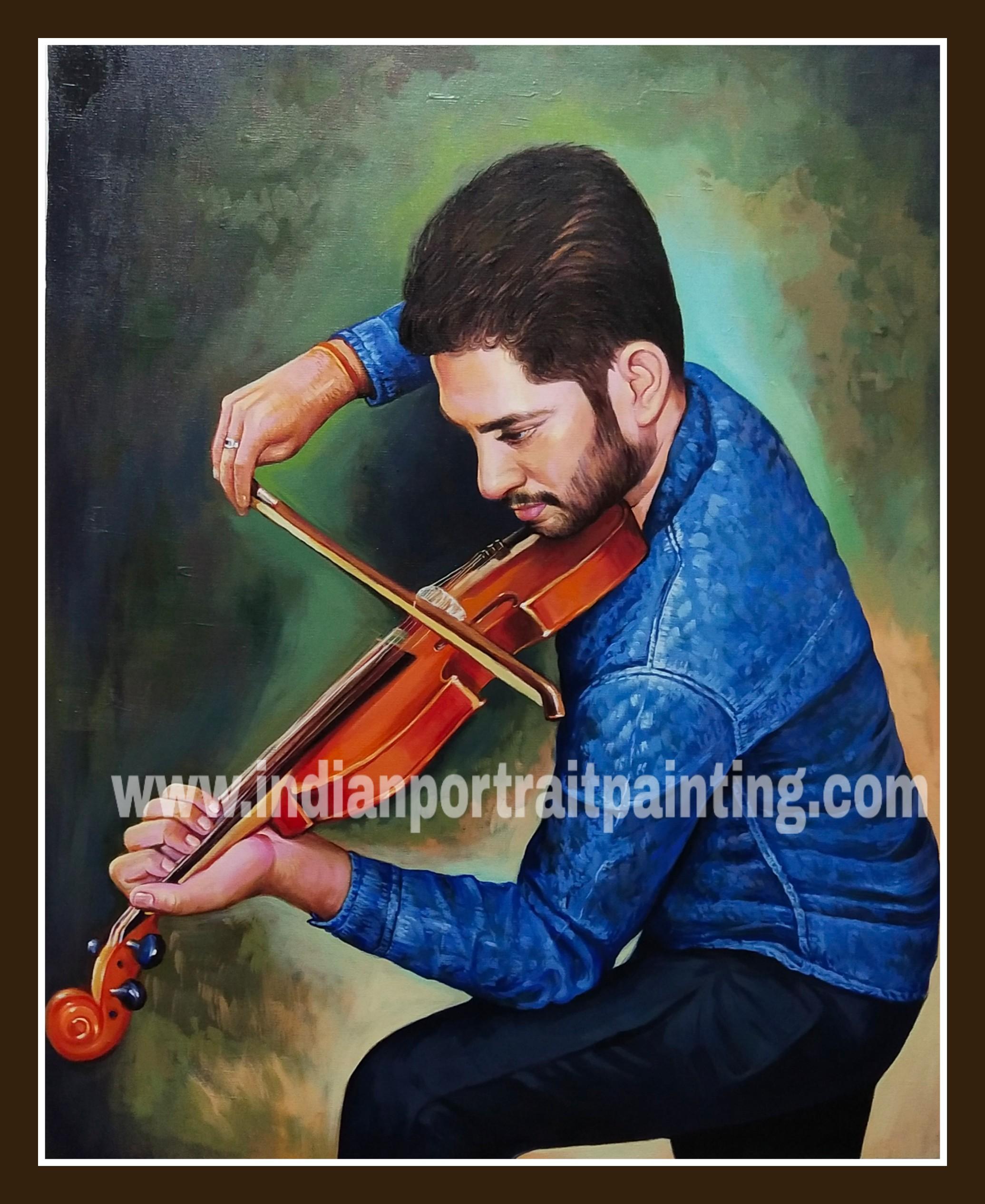 Hand painted portrait artist