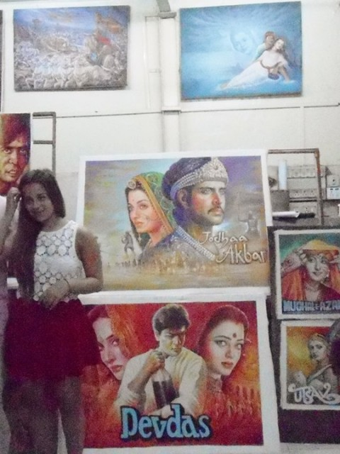 Foreign art collectors of customized Bollywood poster