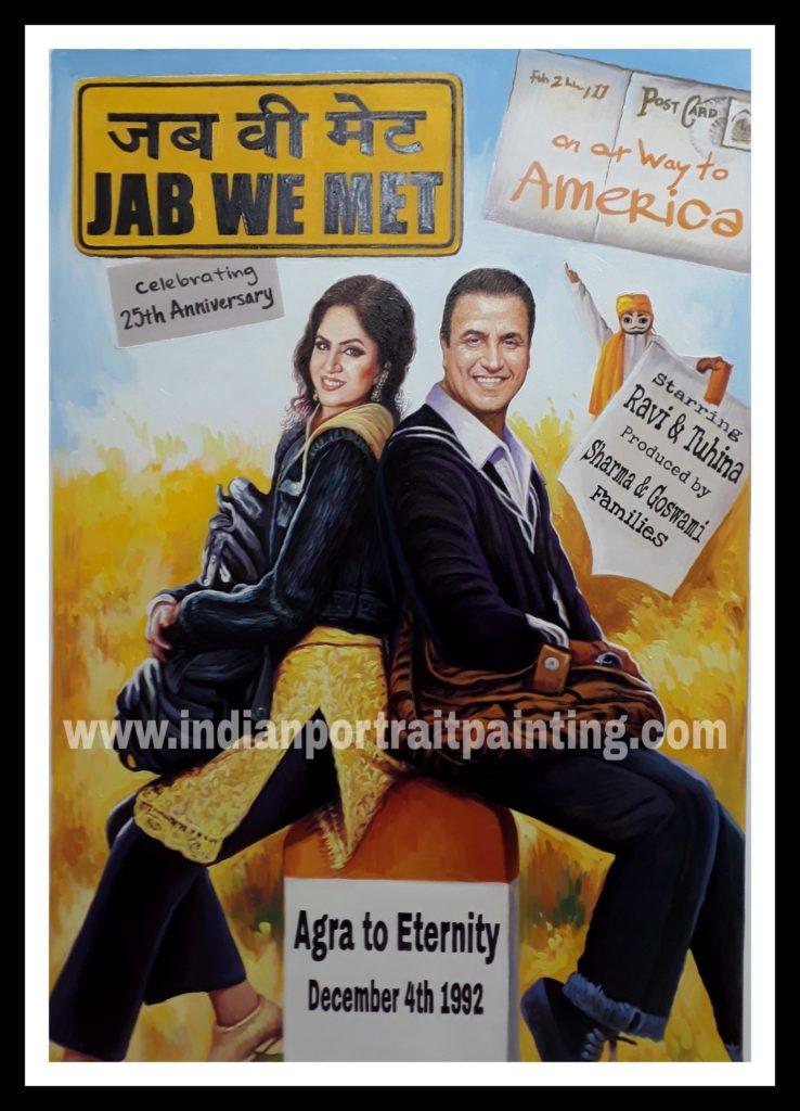 Bespoke hindi bollywood movie poster