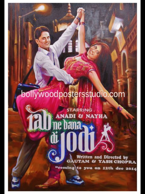 Bollywood customise poster save the date cards