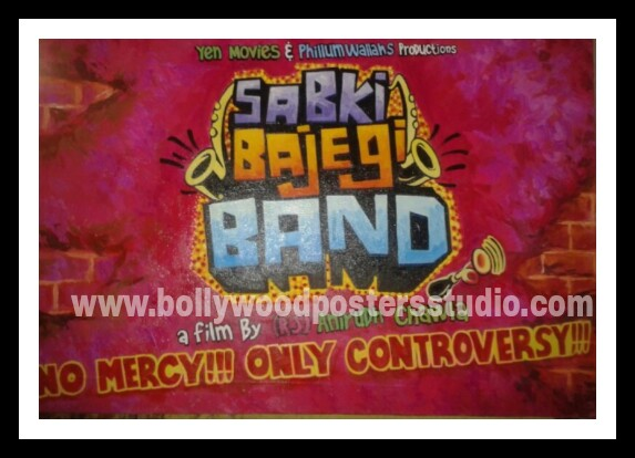 Bollywood hand painted posters