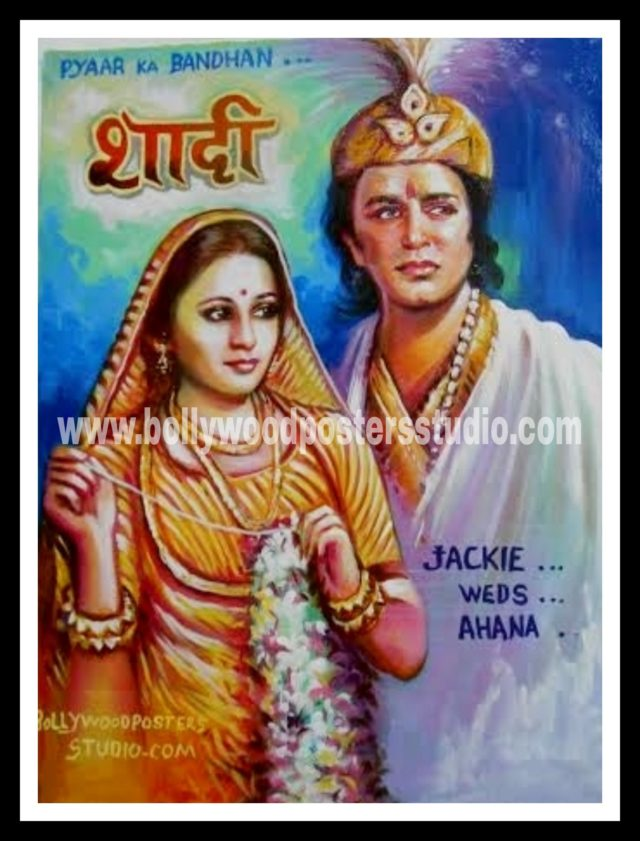 Custom hindi movie wedding themed bollywood posters