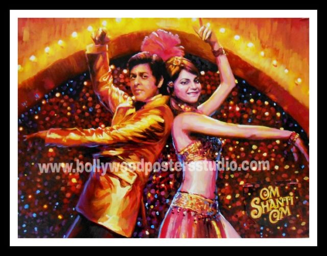 Custom made Bollywood movie poster painter