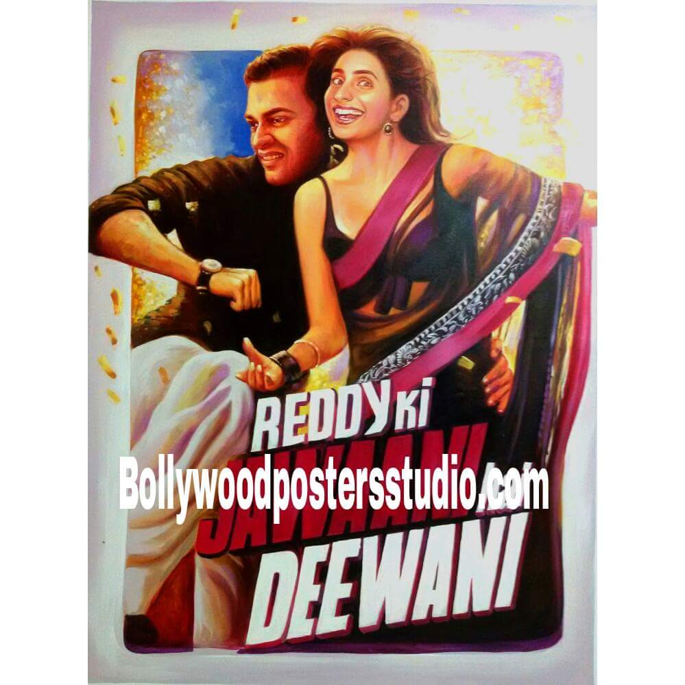 Hand painted customized Bollywood poster art queries