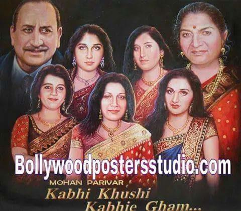 Customized family portrait into Bollywood poster online mumbai