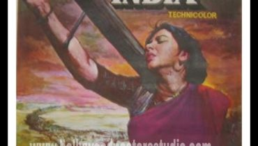 Hand painted Bollywood movie poster art Mumbai India