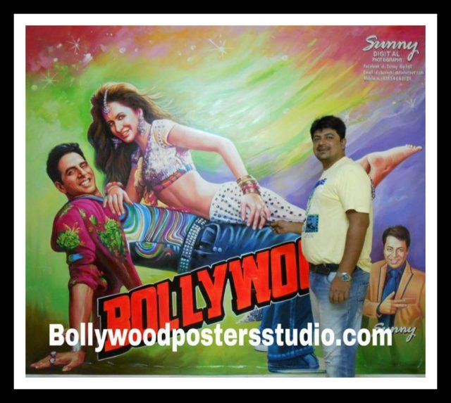 Hand painted Hindi movie billboard poster painter Mumbai