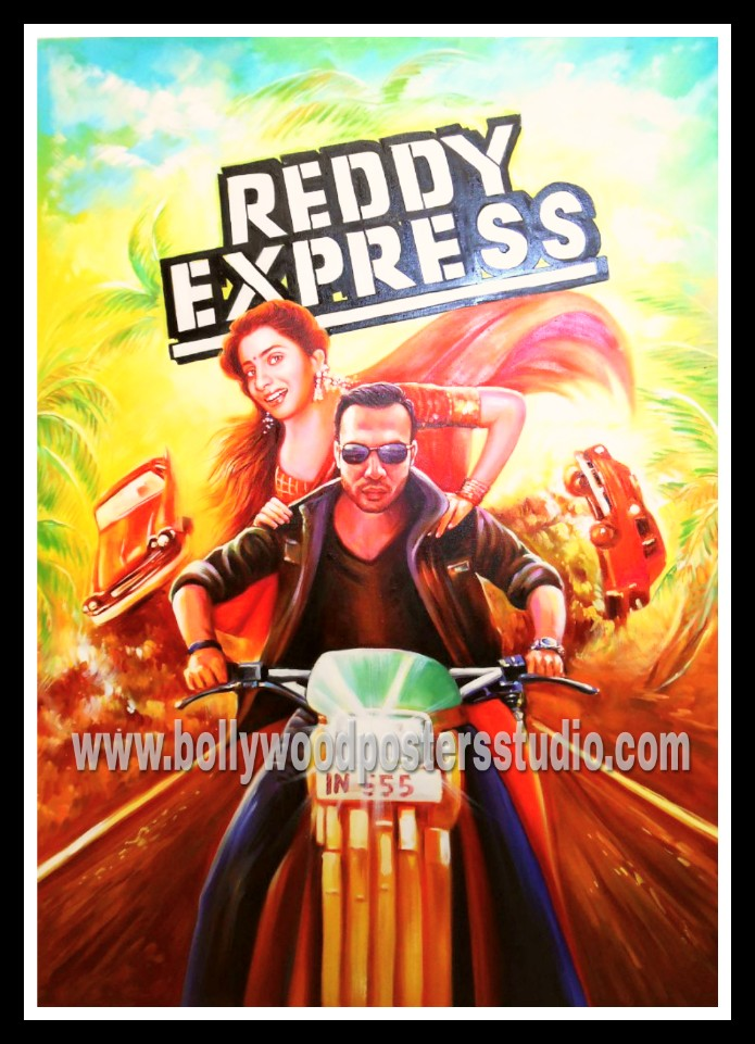 Hand painted custom Bollywood film poster