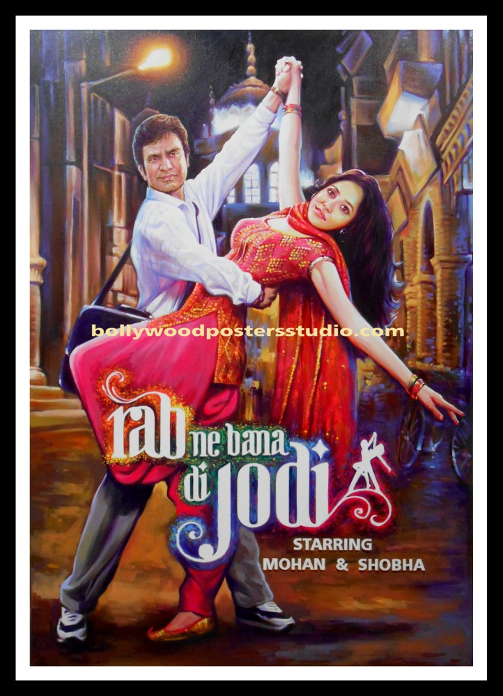 Hindi cinema customized posters hand painted