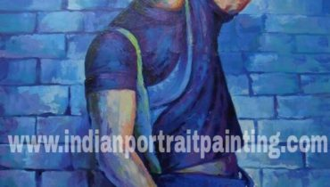 Customized hand painted portrait Bollywood theme knife art poster online service