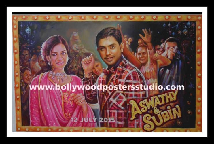 Customized Bollywood themed wedding decor and mandap backdrops