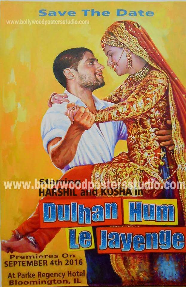 custom bollywood poster on canvas than digital